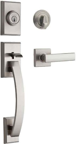 An image of Kwikset 98001-374 Satin Nickel Lever Lockset Lock