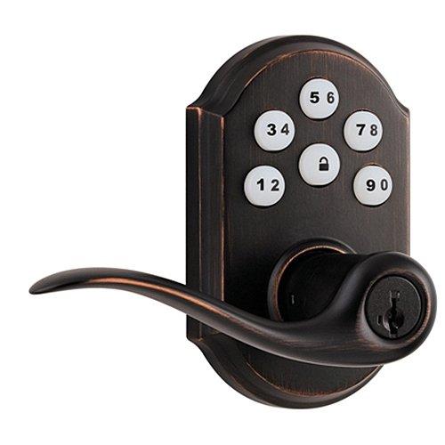 An image of Kwikset 99120-006 Tuscan Bronze Remote Lever Lockset Lock