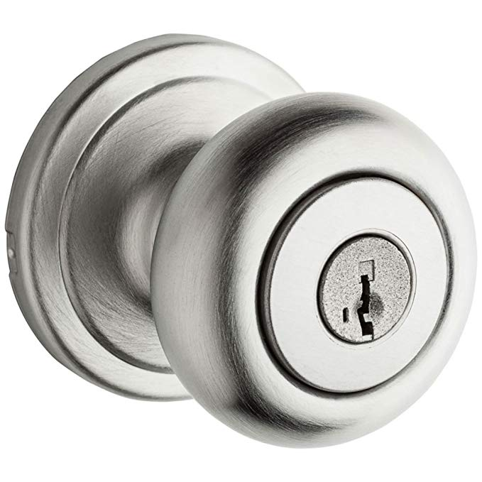 An image of Kwikset 97402-783 Entry Metal Satin Chrome Lever Lockset Lock