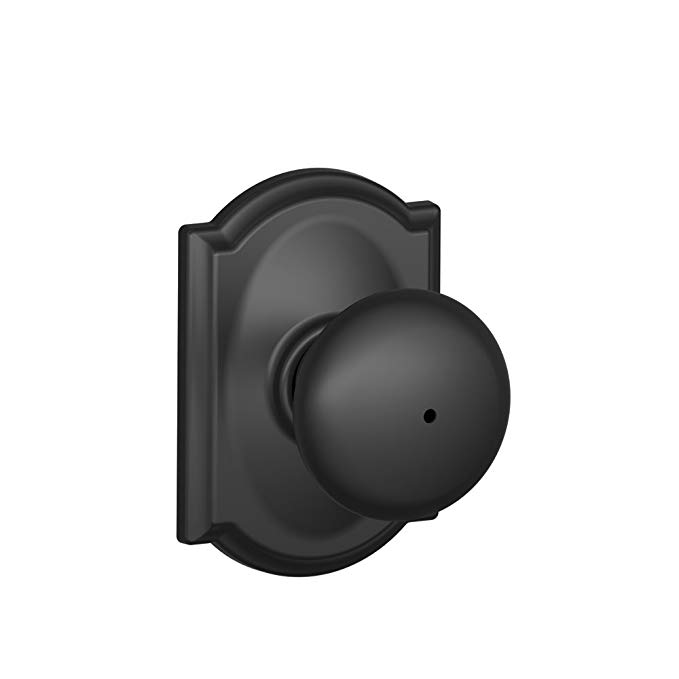 An image related to Schlage F40 PLY 622 CAM Privacy Black Lock