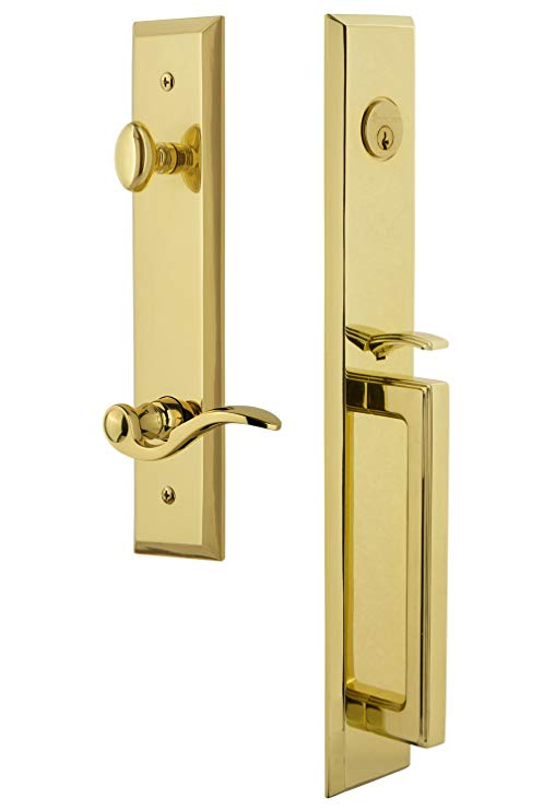An image of Grandeur 847638 Brass Lever Lockset Door Lock | Door Lock Guide
