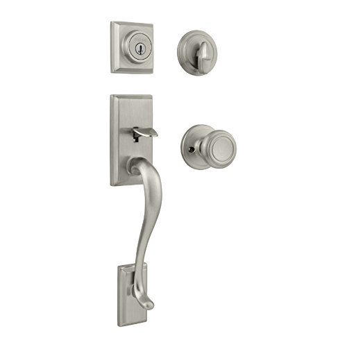 An image of Kwikset 98001-128 Satin Nickel Lock