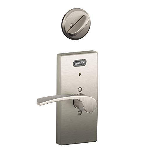 An image related to Schlage FE59 MER Satin Nickel Lever Lockset Lock