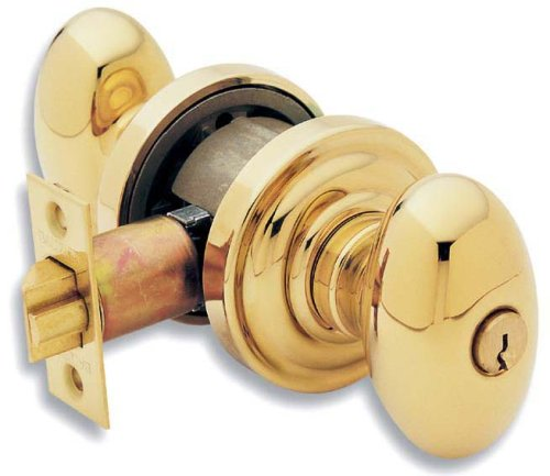 An image of Baldwin 5225.003.ENTR Entry Brass Polished Lock