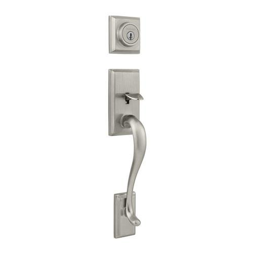 An image of Kwikset 98001-175 Satin Nickel Lever Lockset Door Lock