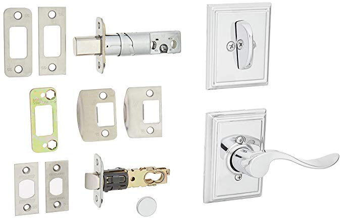 An image of Schlage F59ACC625ADDRH Chrome Effect Lever Lockset Lock