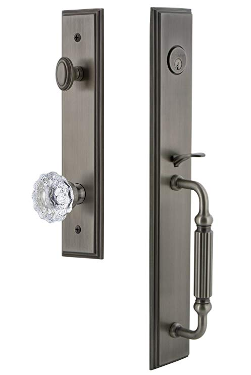 An image of Grandeur 845094 Pewter Lever Lockset Lock
