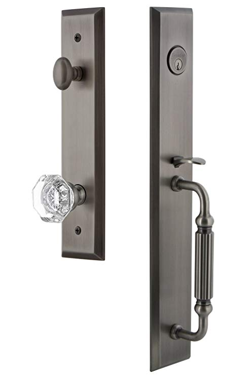 An image related to Grandeur 845944 Brass Pewter Lever Lockset Lock