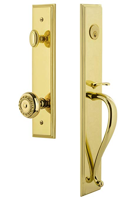 An image related to Grandeur 845290 Brass Lever Lockset Lock