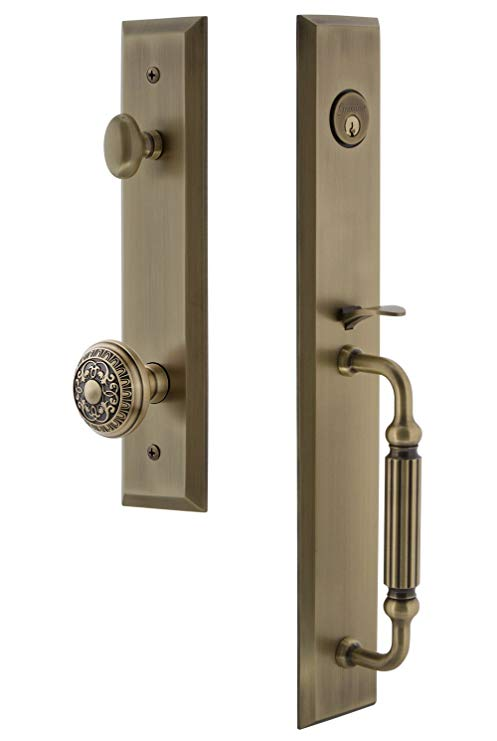 An image related to Grandeur 846653 Brass Lever Lockset Lock