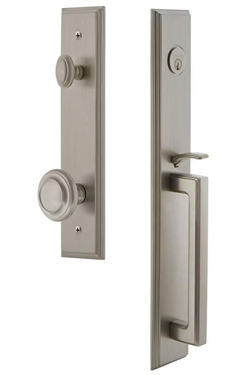 An image of Grandeur 844935 Brass Satin Nickel Lever Lockset Lock | Door Lock Guide