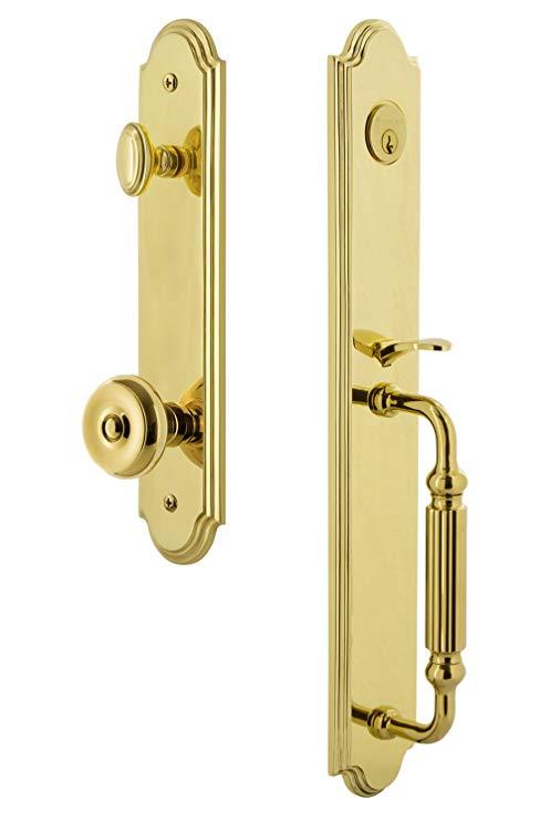 An image related to Grandeur 843670 Brass Lever Lockset Door Lock