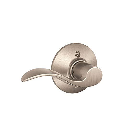 An image related to Schlage F170ACC619LH Satin Nickel Lever Lockset Lock