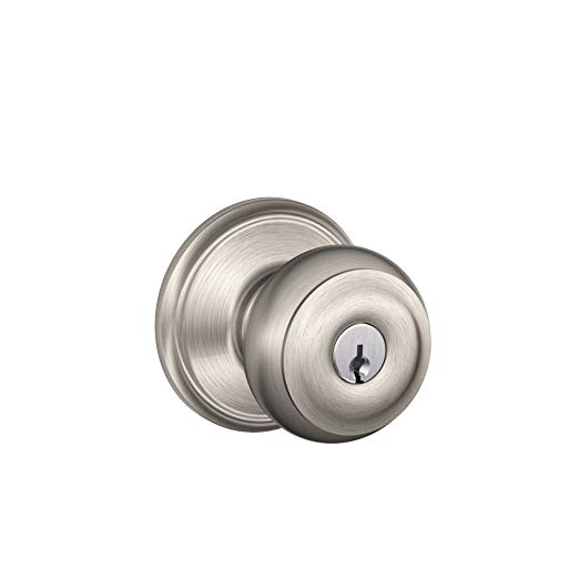 An image related to Schlage F51VGEO619 Entry Satin Nickel Lock