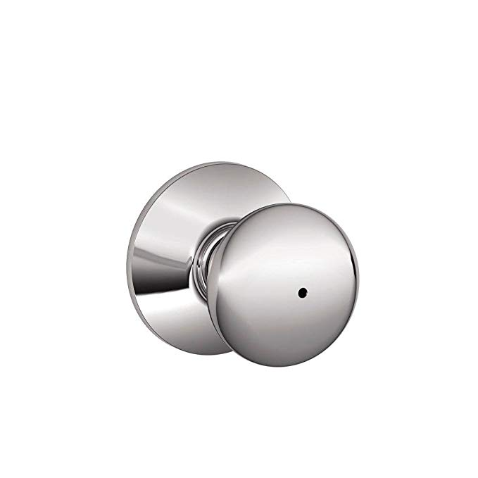 An image of Schlage F40PLY625 Bathroom Privacy Chrome Effect Lock | Door Lock Guide