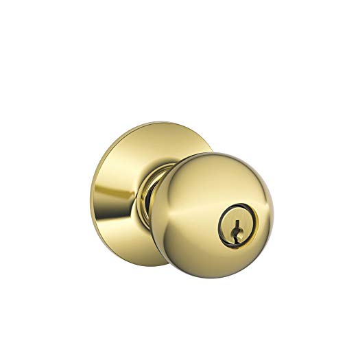 An image of Schlage F51A ORB 605 Entry Brass Lock