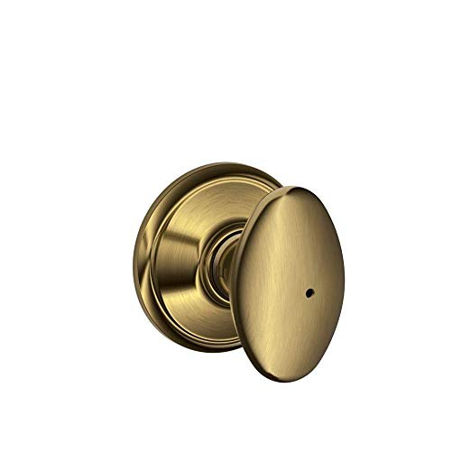An image related to Schlage F40 SIE 609 16-080 10-027 Bathroom Privacy Satin Brass Lock