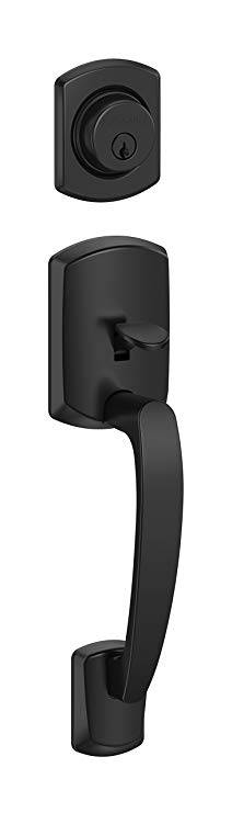An image related to Schlage F58 GRW 622 Entry Black Lock