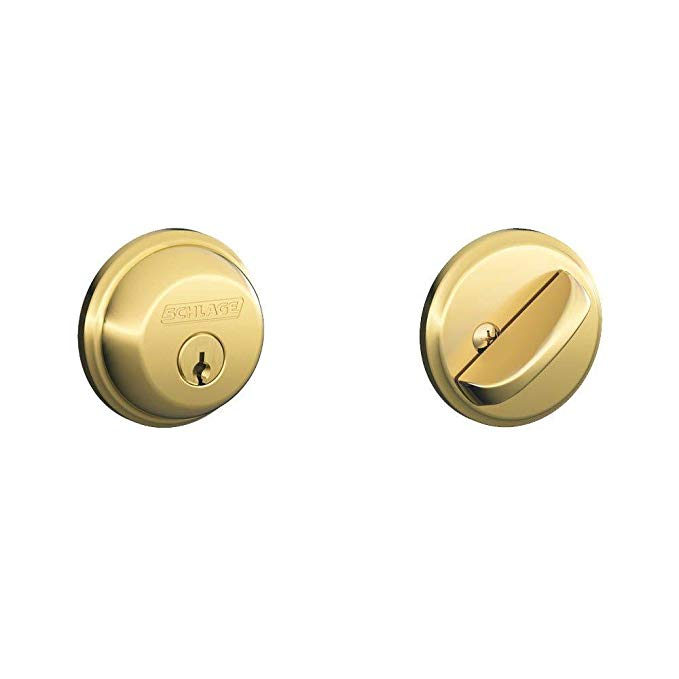 An image of Schlage B60N505 Brass Lock