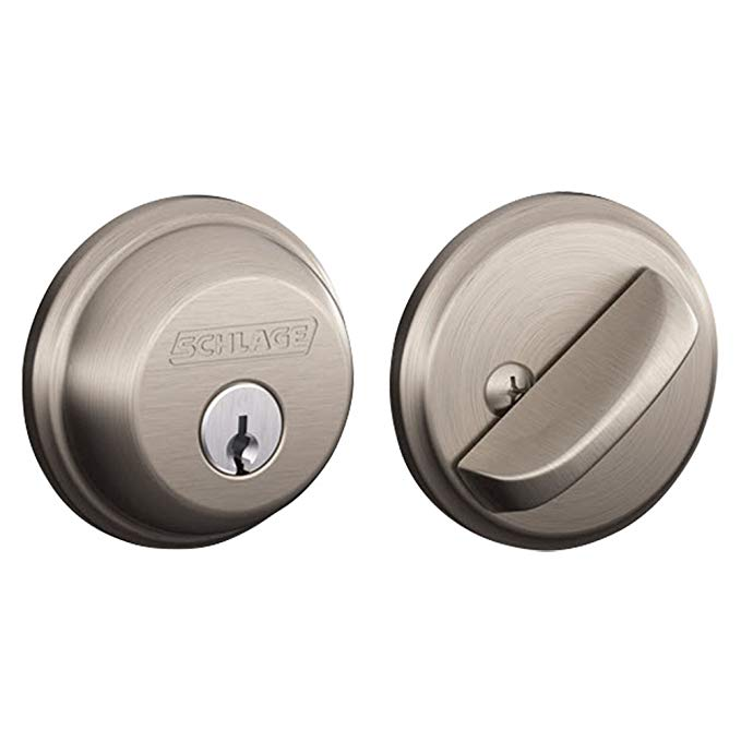 An image of Schlage B360NV619 Satin Nickel Lock | Door Lock Guide