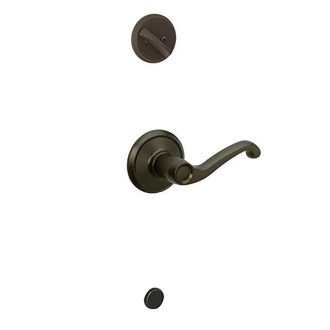An image of Schlage F59 FLA 613 LH Oil-Rubbed Bronze Lever Lockset Lock | Door Lock Guide