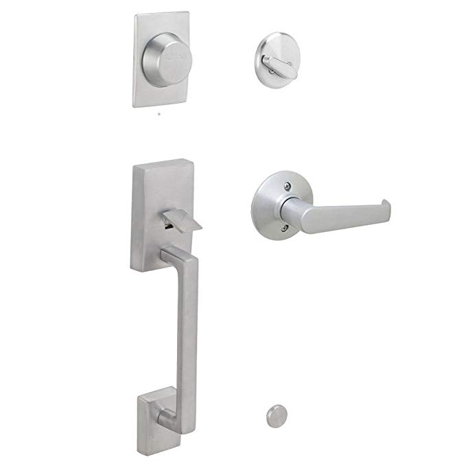 An image related to Schlage F93CEN626ELA Chrome Effect Lever Lockset Lock