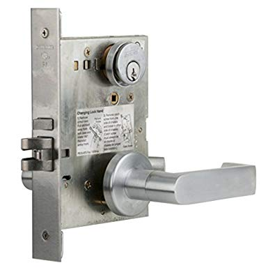 An image related to Schlage L9050P 06A 626 C123 Entry Satin Chrome Lock