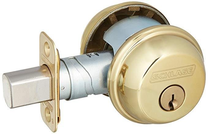 An image of Schlage B62N605 Brass Lock