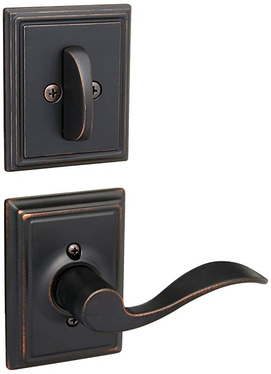 An image related to Schlage F59ACC716ADDLH Aged Bronze Lever Lockset Lock