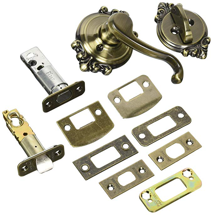 An image related to Schlage F59CLT609BRKLH Brass Lever Lockset Lock