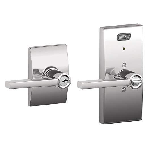 An image of Schlage FE51 LAT Entry Chrome Effect Lever Lockset Lock