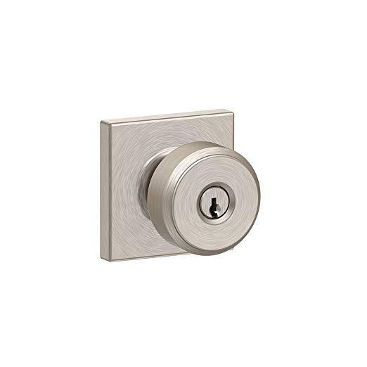 An image related to Schlage F51A BWE 619 COL Entry Satin Nickel Lock