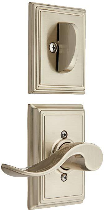An image of Schlage F59ACC619ADDLH Satin Nickel Lever Lockset Lock | Door Lock Guide