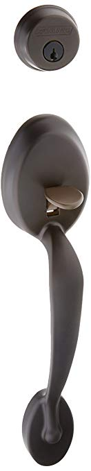 An image of Schlage F62PLY613PLY Oil-Rubbed Bronze Lock | Door Lock Guide