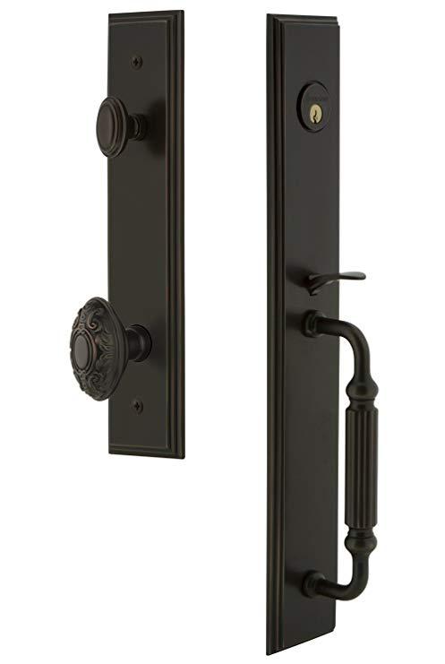 An image related to Grandeur 845190 Bronze Lever Lockset Door Lock