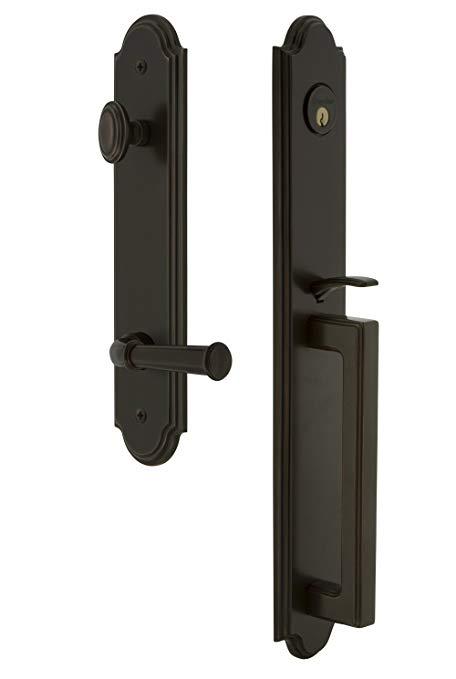 An image related to Grandeur 846870 Bronze Lever Lockset Lock