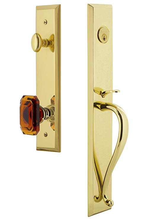 An image of Grandeur 845594 Brass Lever Lockset Lock