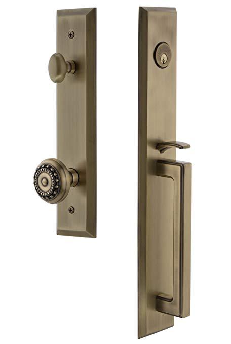 An image of Grandeur 846409 Brass Lever Lockset Lock