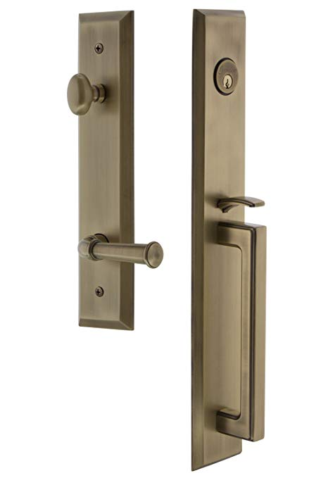 An image of Grandeur 847829 Brass Lever Lockset Lock
