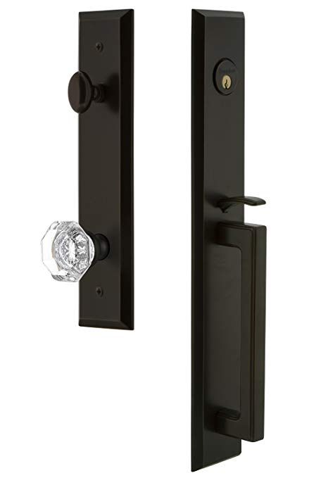 An image related to Grandeur 845977 Brass Bronze Lever Lockset Lock