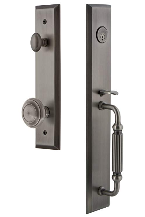 An image of Grandeur 846004 Brass Pewter Lever Lockset Lock