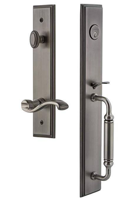 An image related to Grandeur 843131 Brass Pewter Lever Lockset Lock