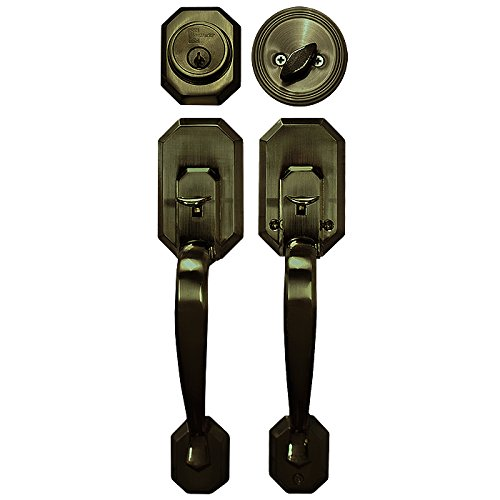 An image of Constructor CON-CER-AC Entry Copper Lever Lockset Lock