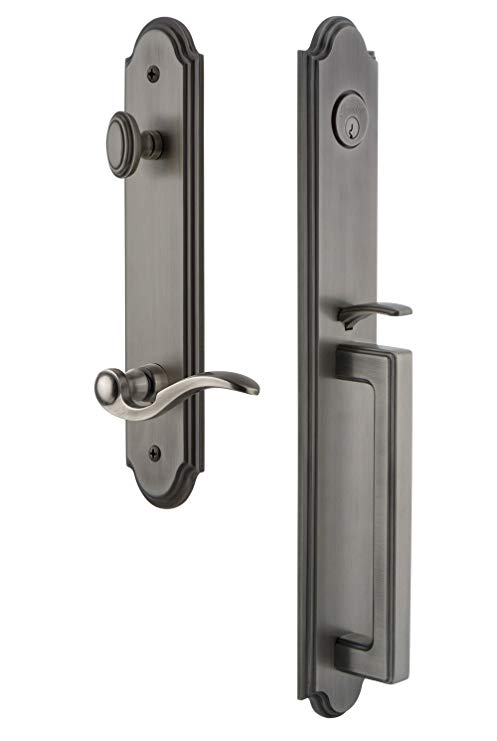 An image related to Grandeur 846678 Pewter Lever Lockset Lock