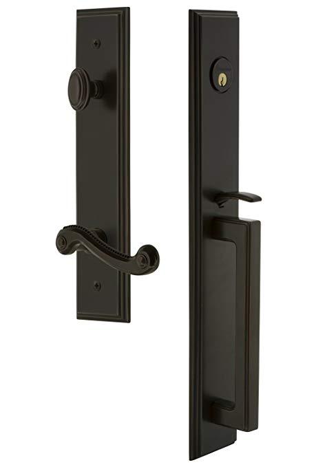 An image related to Grandeur 847444 Brass Bronze Lever Lockset Lock