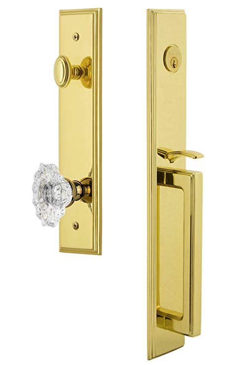 An image of Grandeur 844634 Brass Lever Lockset Door Lock | Door Lock Guide