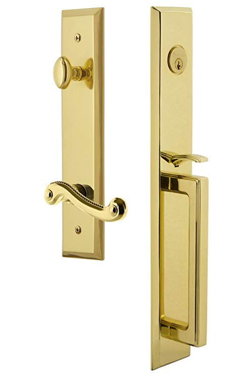 An image related to Grandeur 847876 Brass Lever Lockset Lock