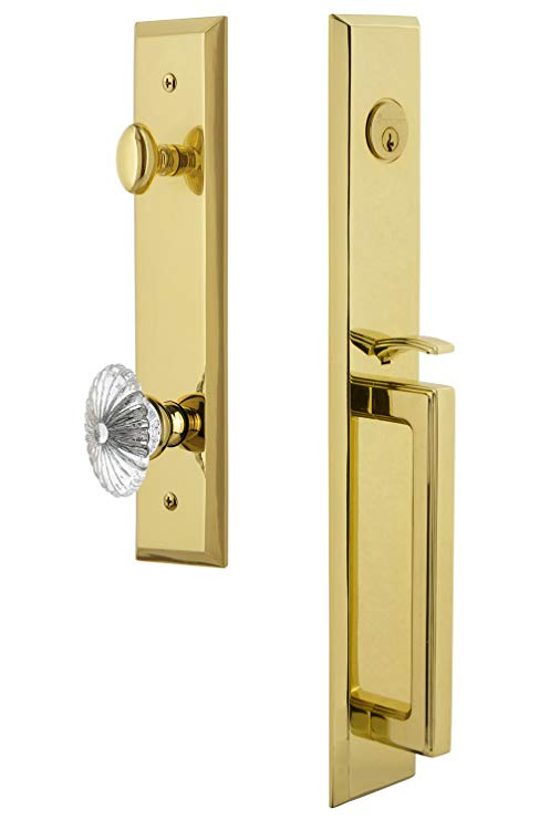 An image related to Grandeur 845893 Brass Lever Lockset Lock
