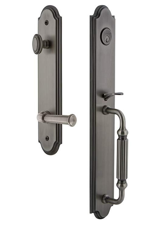 An image of Grandeur 846782 Pewter Lever Lockset Lock | Door Lock Guide