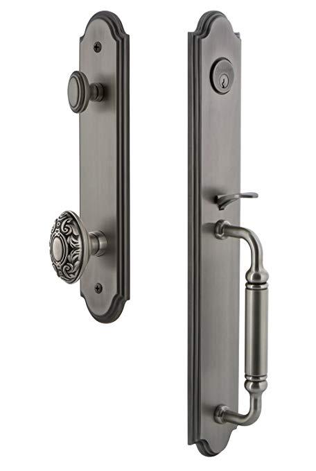 An image of Grandeur 842002 Brass Pewter Lever Lockset Lock | Door Lock Guide